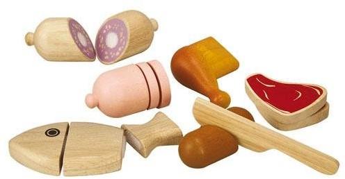 Plan Toys  houten keuken accessoires Meat set 3457
