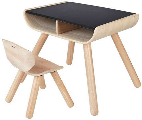 Plan Toys  houten kindermeubel Table & Chair Black