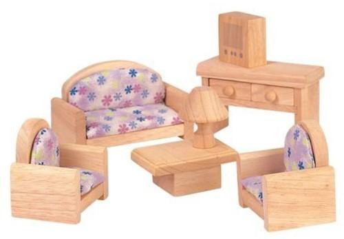 Plan Toys poppenhuis meubels klassieke Woonkamer