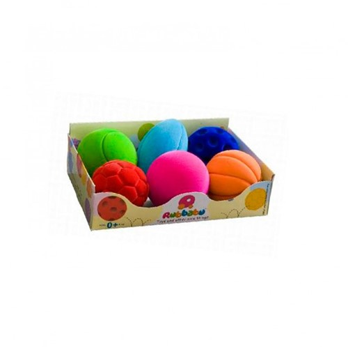 Megaform Set of 6 Rubbabu Mini Sport Balls