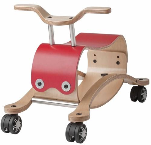 Wishbonebike - houten loopauto - Flip Rood