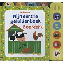 Kinderboek Mijn eerste geluidenboek: Boerderij. 1+