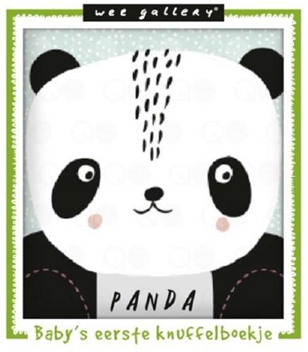 Wee gallery Stoffen knuffelboekje panda.