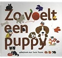 Kinderboeken  babyboek Zo voelt een puppy