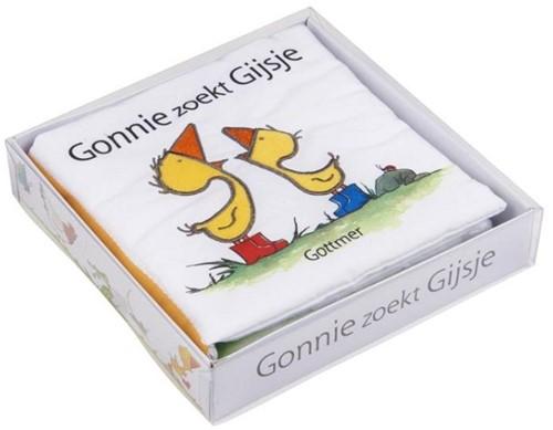 Gonnie zoekt Gijsje (stofboek in doos)
