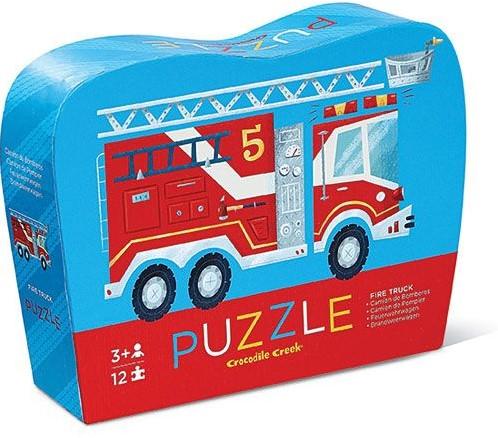 Crocodile Creek mini puzzel Brandweerwagen - 12 stukjes
