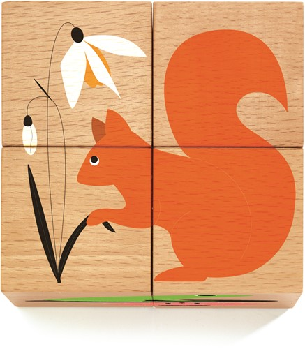 Djeco houten blokpuzzel Nature & co