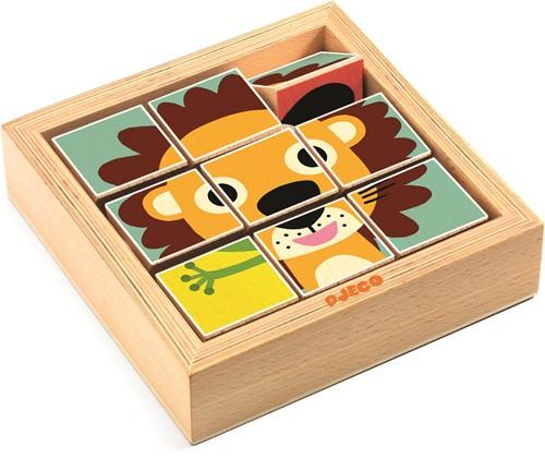 Djeco houten blokpuzzel Touranimo