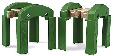 BRIO Groene spoorbrug pijlers - 33253