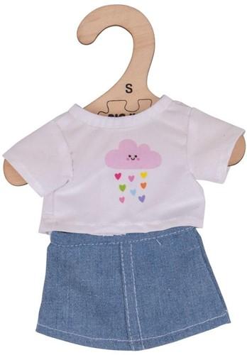 Bigjigs White T-Shirt and Denim Skirt - Small