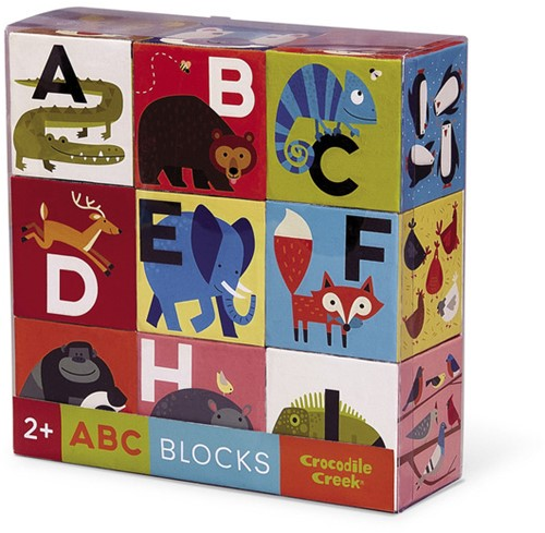 Crocodile Creek 9 pc Jumbo Block Set - Animalia