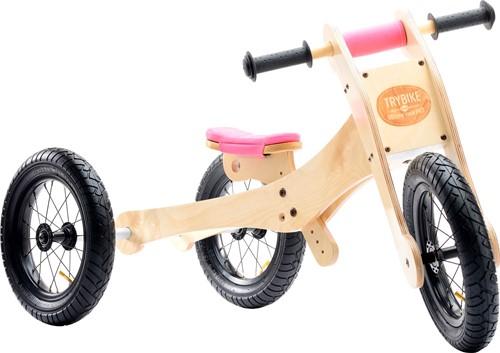 Trybike houten loopfiets 4-in-1 Roze